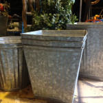 Tin Garden Pots - Prop For Hire