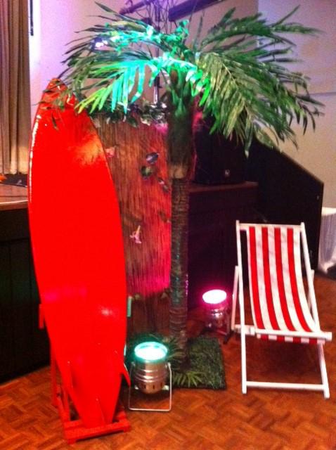 Tropical  Surf Deckchair - Prop For Hire