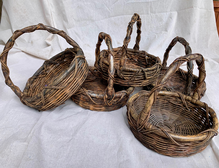 Tuscan Baskets With Handles - Prop For Hire