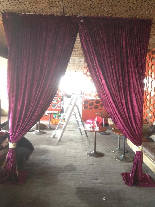 Velvet Drape Entrance - Prop For Hire