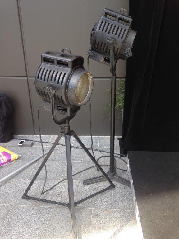 Vintage Movie Lights - Prop For Hire