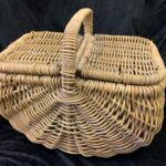 Vintage Natural Picnic Basket - Prop For Hire