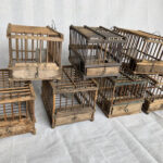 Vintage Timber Bird Cages - Prop For Hire