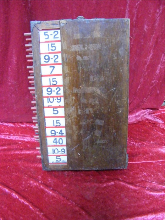 Vintage Tote Board - Prop For Hire