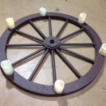Wagon wheel Lights - Prop For Hire