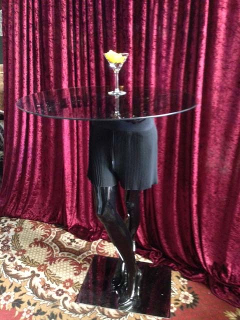 Waitress Cocktail Table - Prop For Hire