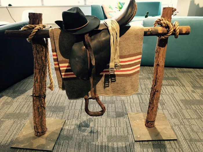 Western Saddle Rack - Prop For Hire