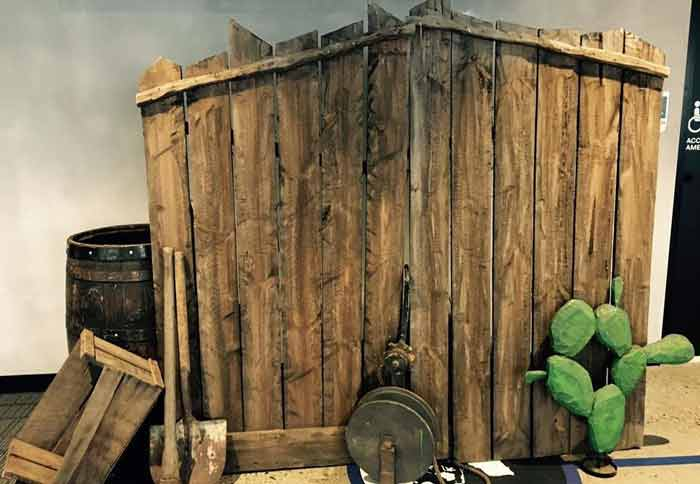 Western Timber Fence - Prop For Hire