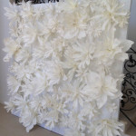 White Flower Wall - Prop For Hire