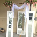 White Panel Mirrors - Prop For Hire