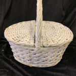 White Picnic Basket - Prop For Hire