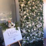 White Roses Babyshower Backdrop - Prop For Hire