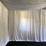 White Velvet Drapes 1 - Prop For Hire