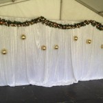 White Xmas Drapes - Prop For Hire