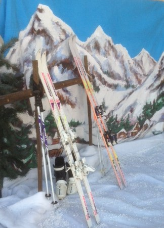 Winter Alps Backdrop - Prop For Hire