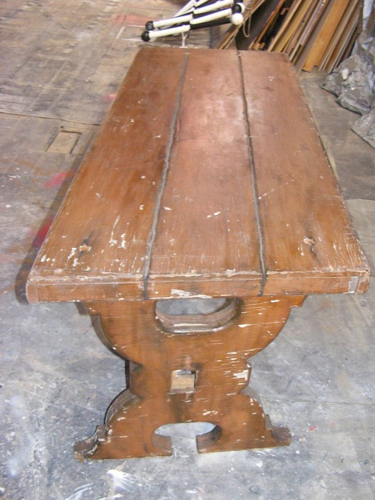 Wooden Banquet Table 2 - Prop For Hire