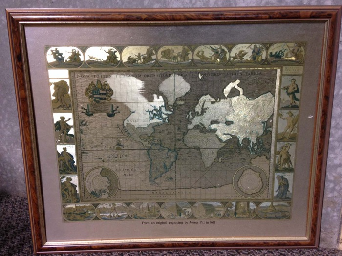 World Map Picture - Prop For Hire